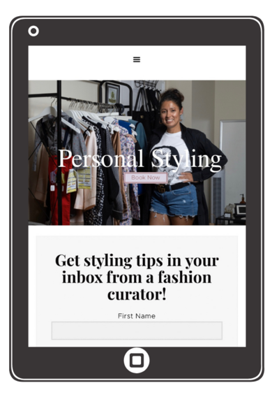 Milagros Designs personal styling website