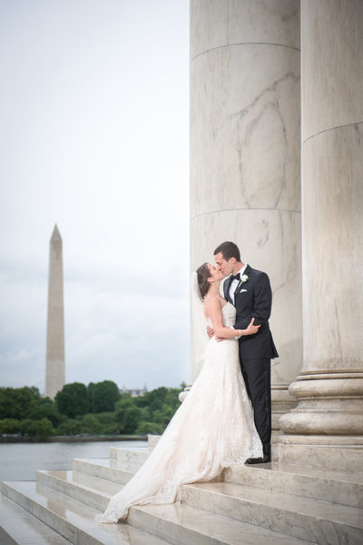 Jefferson Memorial Wedding Washington D.C (2)