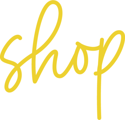 The word shop in yellow script.