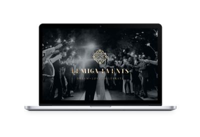 Showit Website Design for Lemiga Events by Carrylove Designs\