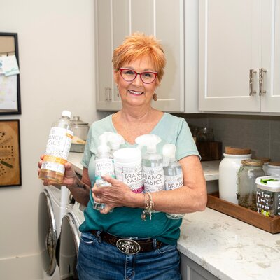 Jane Shine with health products