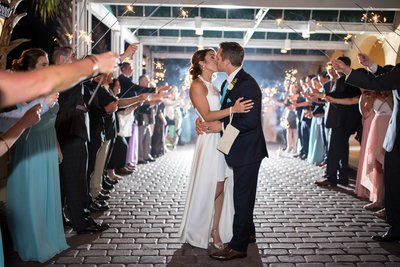 Sparkler exit at the King and Prince in Saint Simons, GA by Lindsey Leigh Weddings