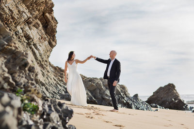 DeNeffe Studios Half Moon Bay Beach Wedding