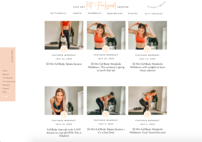 Fit and feelgood online workout library