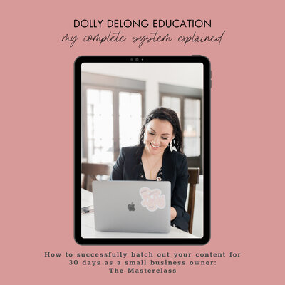 A Masterclass on content creation and batching by Dolly DeLong education a systems and workflow educator
