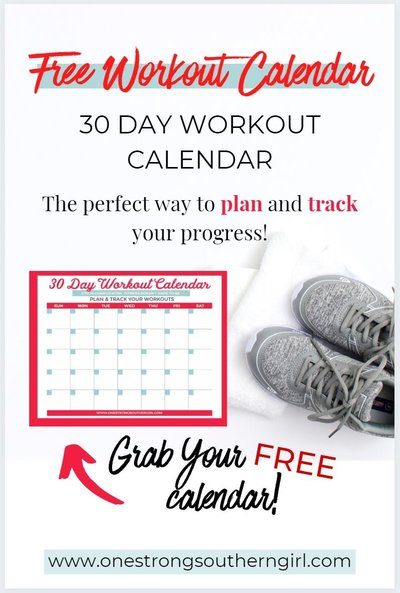 a square image of the free workout calendar
