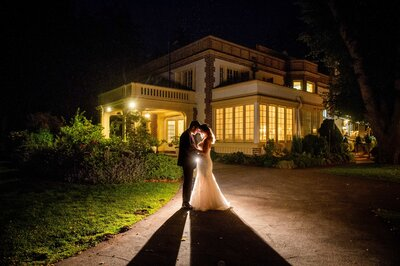 Sparkler exit at the Lairmont Manor
