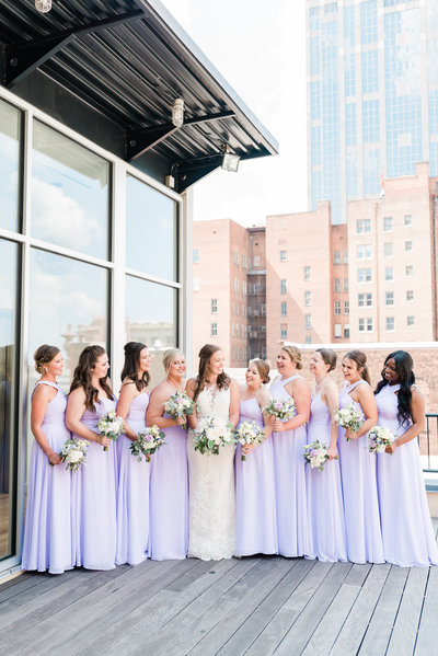 the glass box lavender bridal party