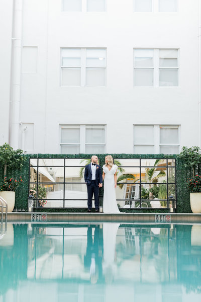 Betsy Hotel Miami Beach Modern Romantic Wedding