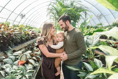 The Browning Family Hewitt Garden Center in franklin TN family portrait Session with Dolly DeLong Photography