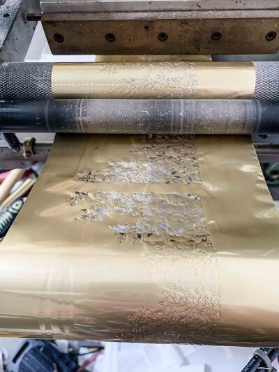 Gold foil for printing press