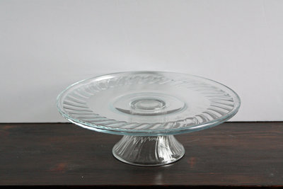 01036_Clear Round Cake Stand