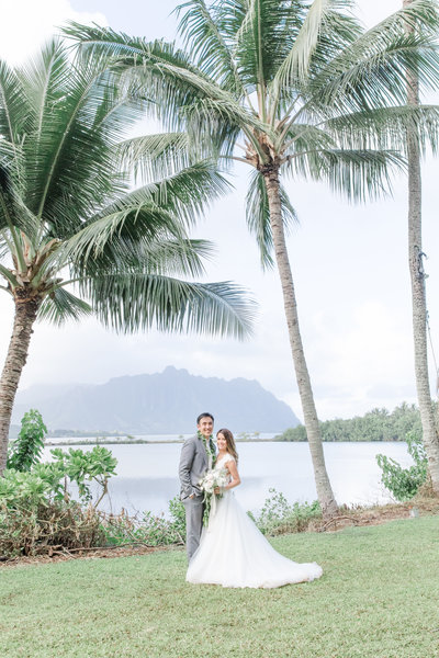Hawaii Destination Wedding in Kaneohe Bay Oahu