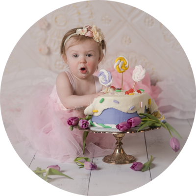 Girly Cake Smash photos