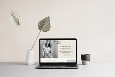 Showit homepage for brand designer