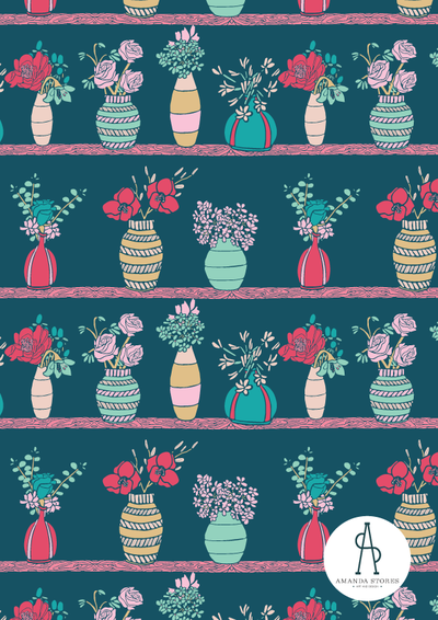 Amanda-Stores--Flower-Pots-Surface-Design-Pattern-on-navy