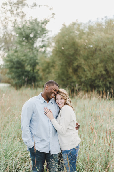 engagement photos in a Georgia field