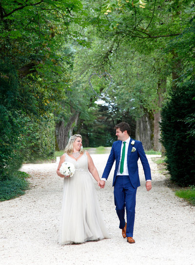 sarah hannam french wedding photographer chateau de la lartigolle bride and groom