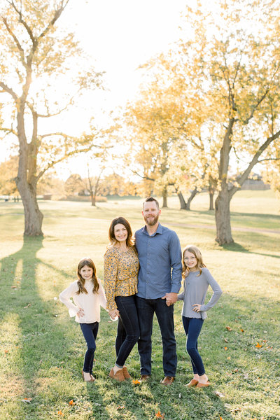 Fall family photo session with Amy SImkus in Toledo, Ohio