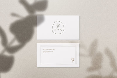 Clover baby business cards