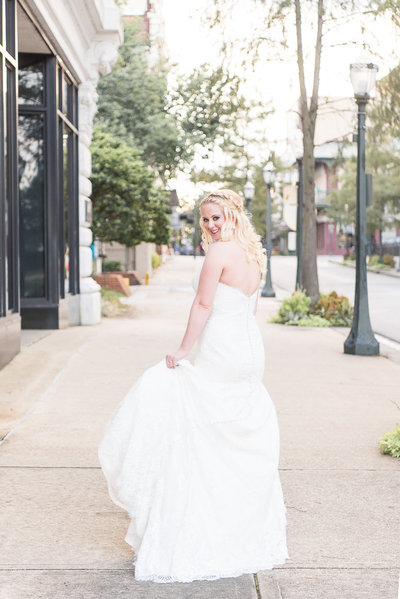 bridal session in mobile, alabama