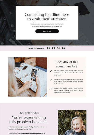 liquorice-showit-sales-page-template