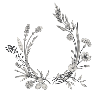 Her Natural Way Logo - HNW Short W