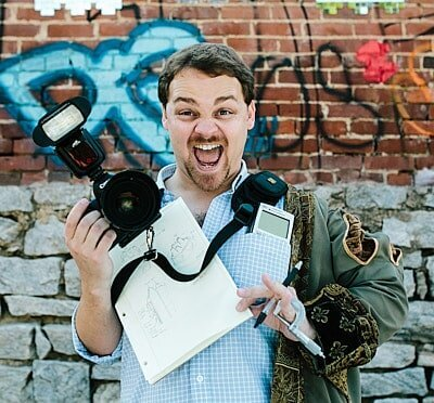 creative brand portrait of multipassionate photographer engineer actor at Krog Street Market