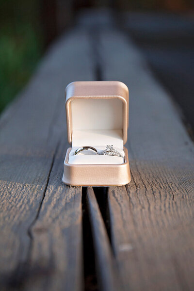 Ring shot by Spokane wedding photographer