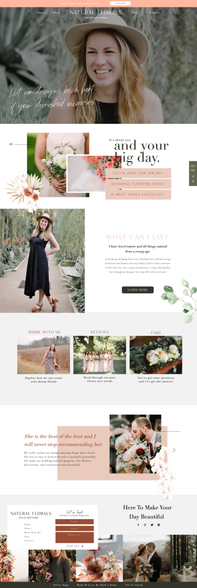 Florist Website Design by Becca Luna