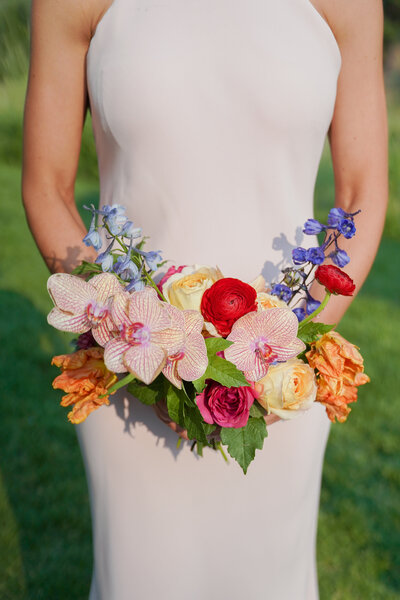 Colorful Bouquet with Orchids
