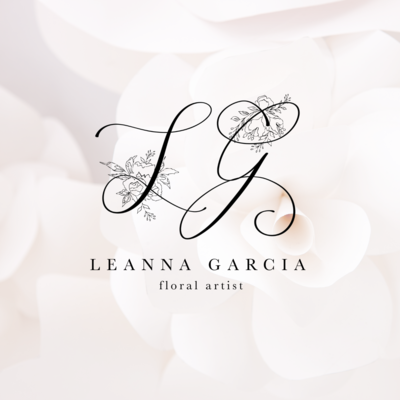 Leanna Garcia Logo by Tribble Design Co.