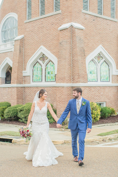 Bride and Groom | A Southern Fall Wedding | Brookhaven, Mississippi