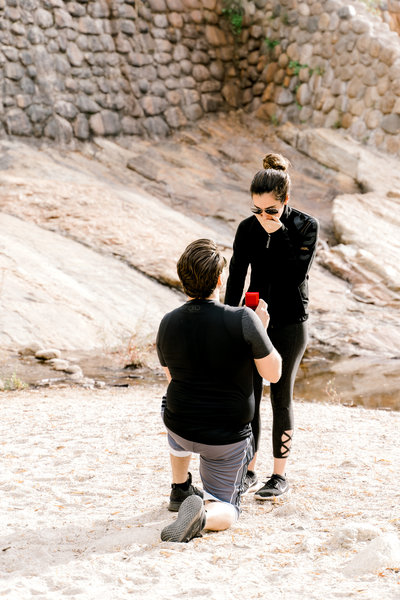 Sabino Canyon Proposal - Ruby Sandoval Tucson Proposal Photographer