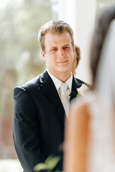 groom sees bride