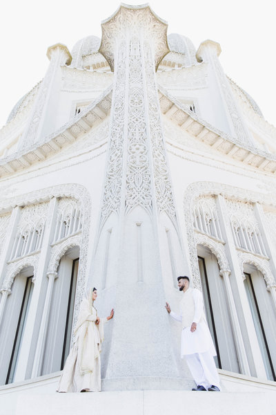 Baha'i Temple Nikkah Photography Wilmette Illinois