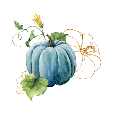 Blue pumpkin gold