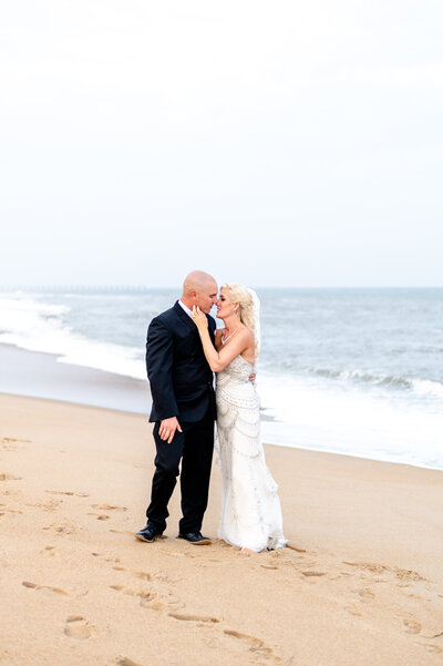 wedding on the beach in Duck, NC