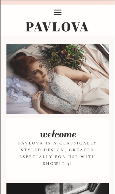 Pavlova Showit Website Template ipad_1