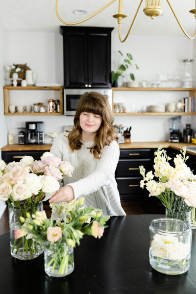 ohio florist posing for branding portraits