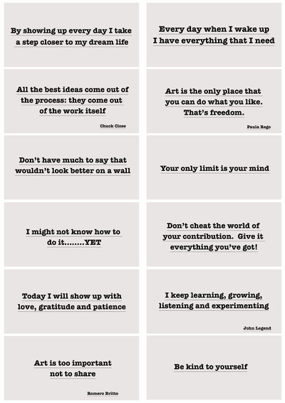 downloadable art quotes