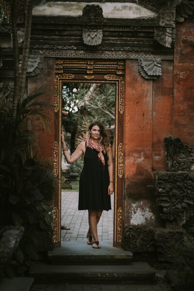 Alison Wearing Boho Design Doorway