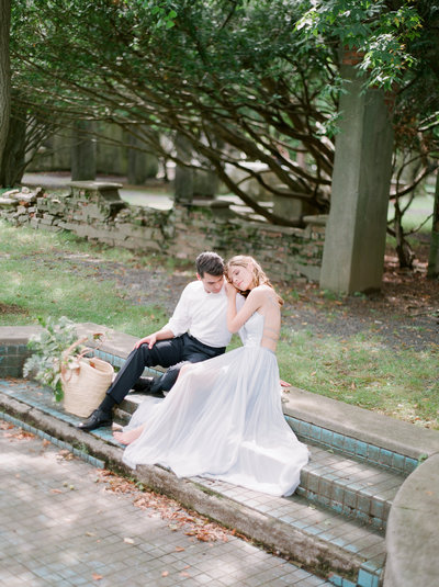 Engagement session nyc new york alder manor fine art film christa o'brien photographer