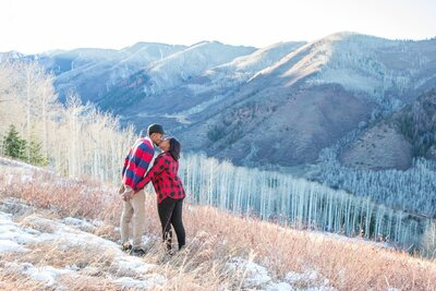 Proposal photography in Snowmass along the Ditch Trail in Colorado