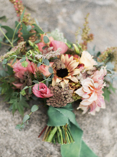 Elegant Bridal Bouquet in Lassen National Park