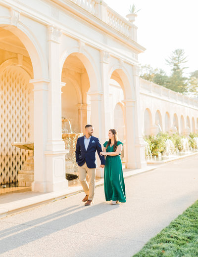 Bride and groom at Longwood Gardens
