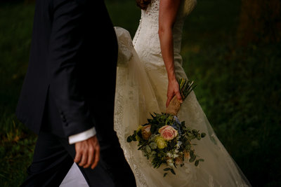 Bride and groom at Wharfedale Grange wedding venue