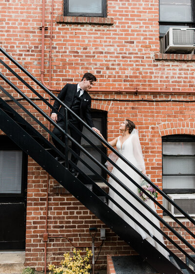 Orange County Wedding Photographer - downtown Redlands stairs