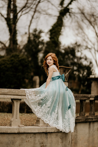 redheaded girl in princess dress
