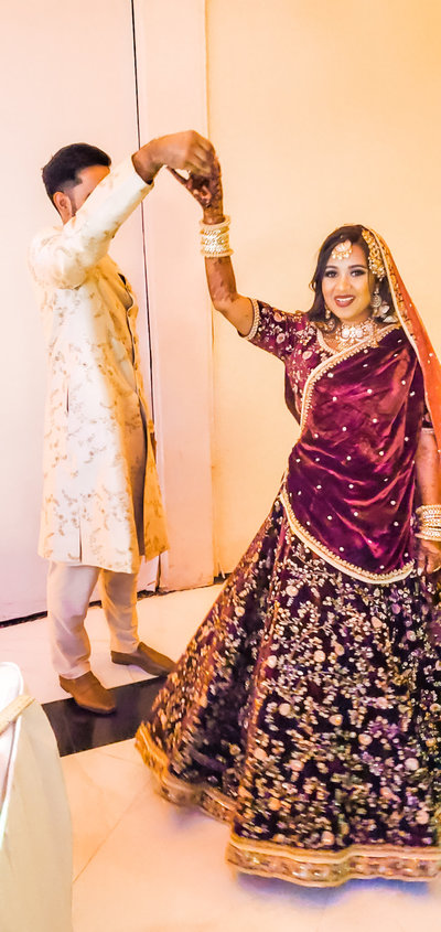 Long Island  New York Indian Wedding Live Wedding Painting